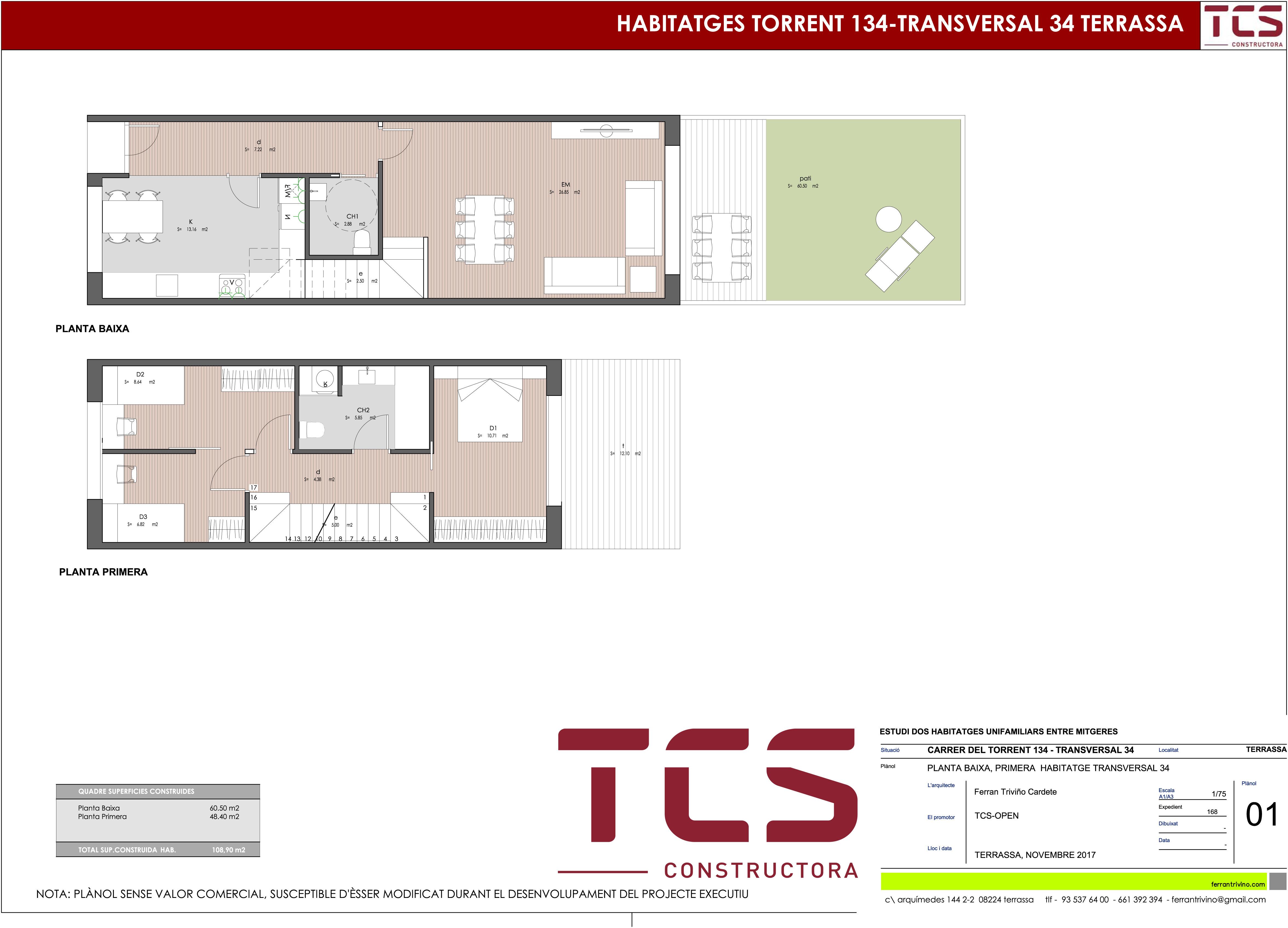 Casa de obra nueva a pere parres terrassa finques - Casas en terrassa ...